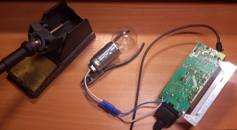 схема мигание лампочки на 1,5 вольта