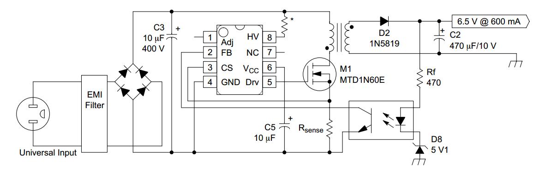 Схема включения 1200p60